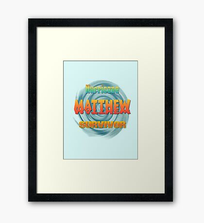 Hurricane Matthew Sunset Survivor  Framed Print