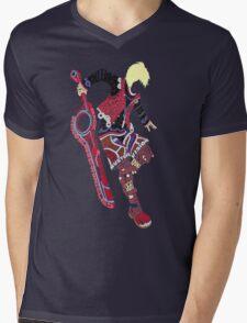 Shulk Typography Mens V-Neck T-Shirt