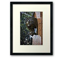 Fountain in a Sculpture (1) Framed Print
