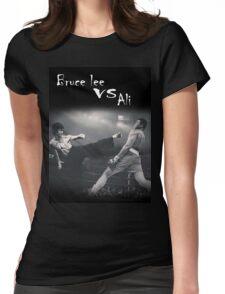 bruce lee vs ali Womens Fitted T-Shirt