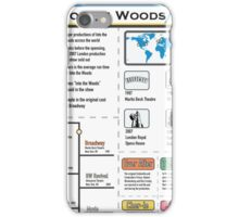Into the Woods Infographic iPhone Case/Skin