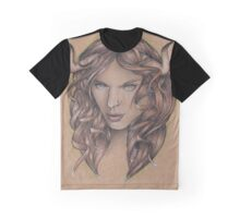 Taurus ♉ Astrological Fantasy Portrait Graphic T-Shirt