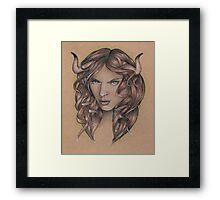 Taurus ♉ Astrological Fantasy Portrait Framed Print
