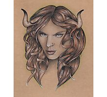 Taurus ♉ Astrological Fantasy Portrait Photographic Print