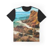 Rocks on the Pacific coast Graphic T-Shirt