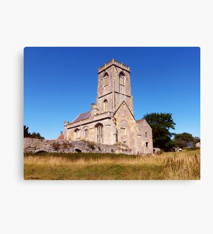 Woodspring Priory at Sunset Canvas Print