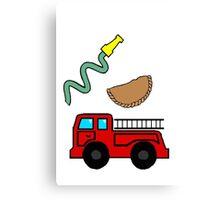 fireman empanada Canvas Print