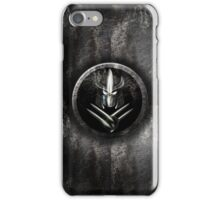 Rustic metal samurai Mask iPhone Case/Skin