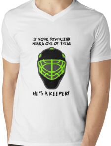 Field Hockey Goalie - If Your Boyfriend Wears One Of These He's A Keeper! Mens V-Neck T-Shirt