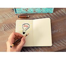 Year 2016 symbol for bright idea and business concept Photographic Print