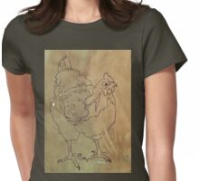 Hettie - ink sketch on coffee back-ground Womens Fitted T-Shirt