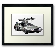 Delorean Back to the Future Framed Print
