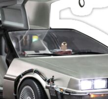 Delorean Back to the Future Sticker