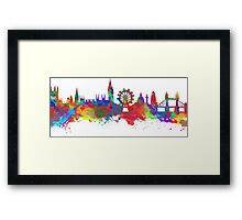 Watercolor art print of the skyline of London Framed Print