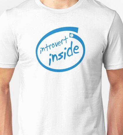 Introvert Inside (blue) Unisex T-Shirt