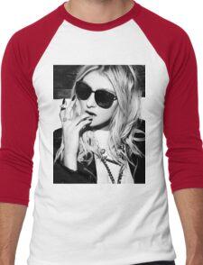 Taylor Momsen Black and White Men's Baseball ¾ T-Shirt