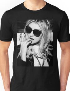 Taylor Momsen Black and White Unisex T-Shirt