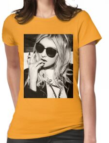 Taylor Momsen Black and White Womens Fitted T-Shirt