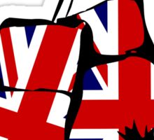 Great Britain Union Flag Boxing Gloves Sticker