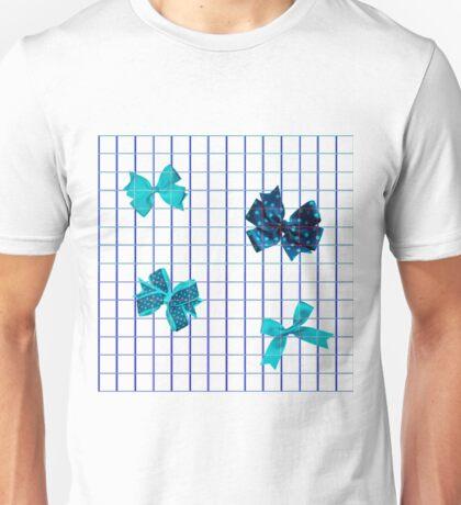 blue bows Unisex T-Shirt