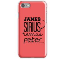 the marauders iPhone Case/Skin