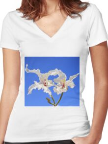 Coffee Bush Purity - Wild Flowers from Africa - Delicate Beauty Women's Fitted V-Neck T-Shirt
