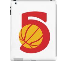 Basketball Ball Five Retro iPad Case/Skin