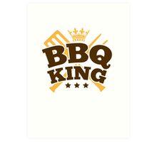 BBQ KING Art Print