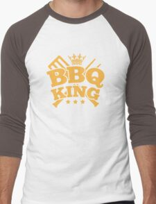 BBQ KING Men's Baseball ¾ T-Shirt