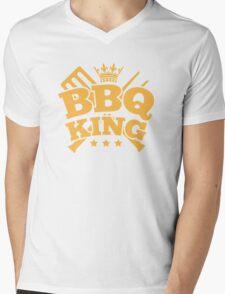 BBQ KING Mens V-Neck T-Shirt