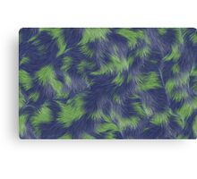 Fur Blue&Green  Canvas Print