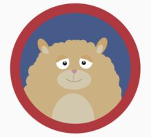 Cute fluffy Hamster with red circle Kids Tee