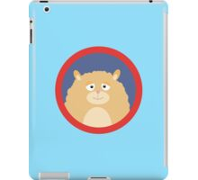 Cute fluffy Hamster with red circle iPad Case/Skin