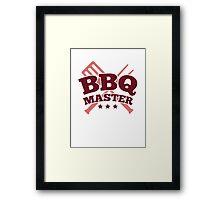 BBQ MASTER Framed Print