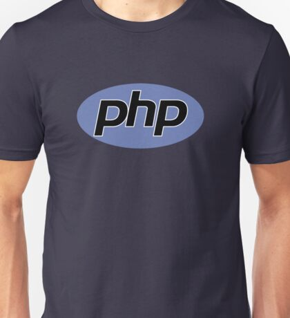 PHP logo 2D Unisex T-Shirt