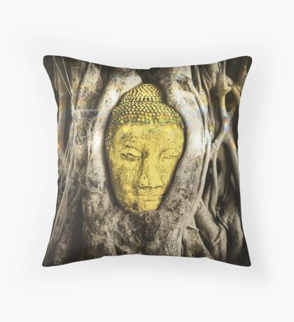 Buddha in Roots 2.0 Throw Pillow