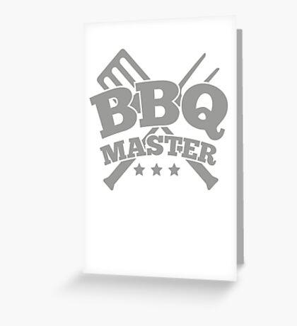 BBQ MASTER Greeting Card