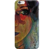 The Other Left Abstract Portrait iPhone Case/Skin
