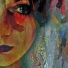 The Other Left Abstract Portrait by Galen Valle