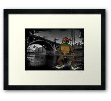 MrWetpaint x Turtles - Raph Framed Print