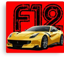 Sports Car F12 - side Canvas Print