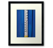 thermometer in degrees Celsius  Framed Print