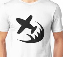 Airplane Racing Icon Unisex T-Shirt