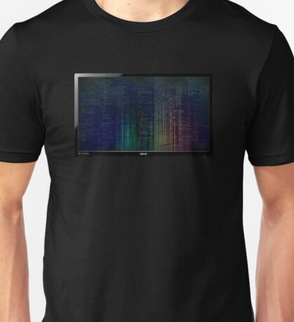 Cracked Screen In-Chest Monitor Unisex T-Shirt