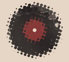 Grunge Vinyl Records Retro Vintage 50's Style by Denis Marsili