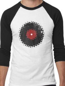 Grunge Vinyl Records Retro Vintage 50's Style Men's Baseball ¾ T-Shirt