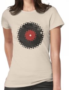 Grunge Vinyl Records Retro Vintage 50's Style Womens Fitted T-Shirt