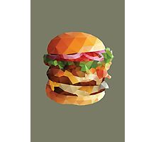Gourmet Burger Polygon Art Photographic Print