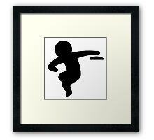 Discus Throwing Framed Print