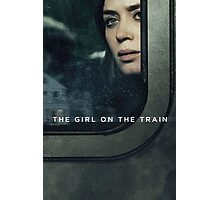 the girl on the train rain down  Photographic Print